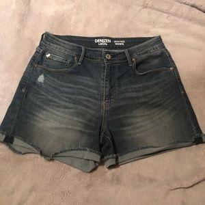 Levi's High Rise Medium Wash Denim Shorts